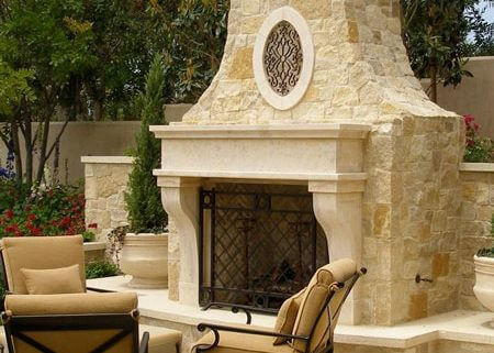 Exterior Fireplace Mantels Bt Architectural Stone