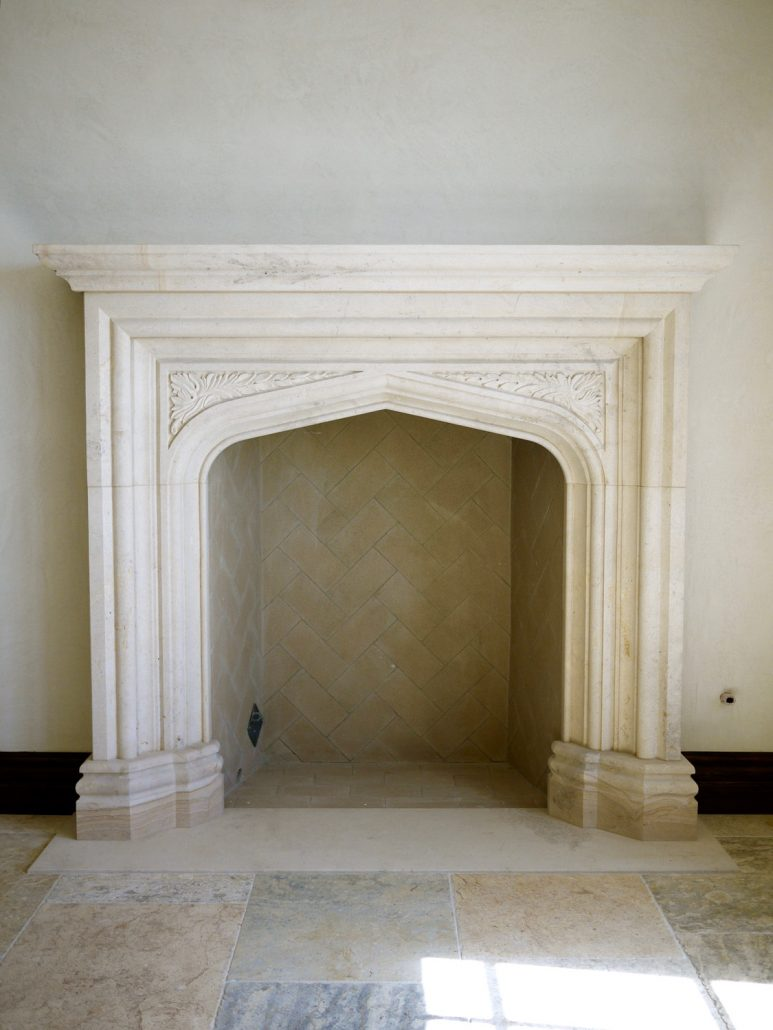 Custom English  U0026 Gothic Stone Fireplace Mantels