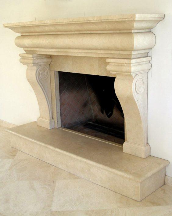 Italian amp Tuscan Stone Fireplace