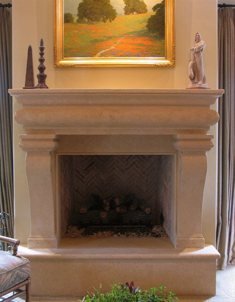 Italian & Tuscan Stone Fireplace Mantels - BT Architectural Stone