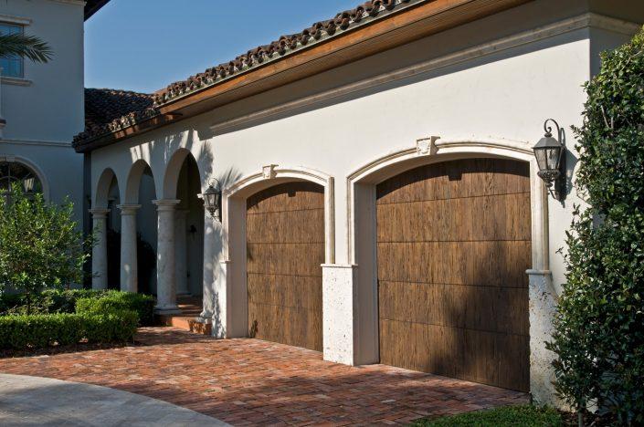 Burden Garage Door Surrounds in Crema limestone
