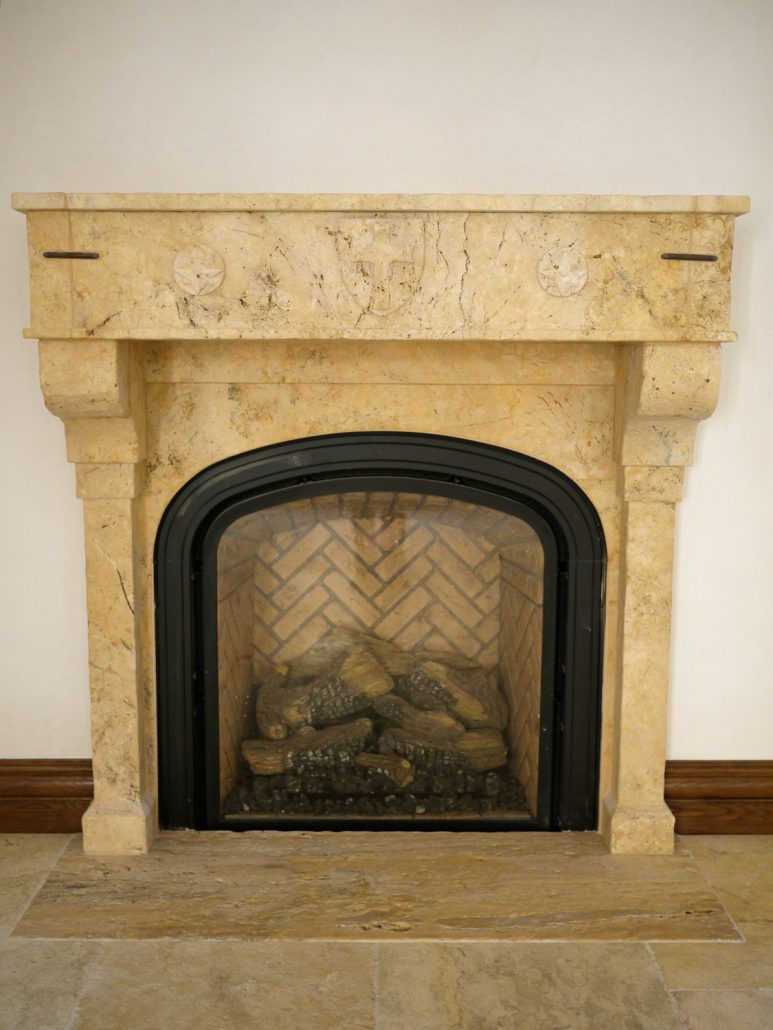 Mission spanish revival fireplace mantels bt for Spanish outdoor fireplace