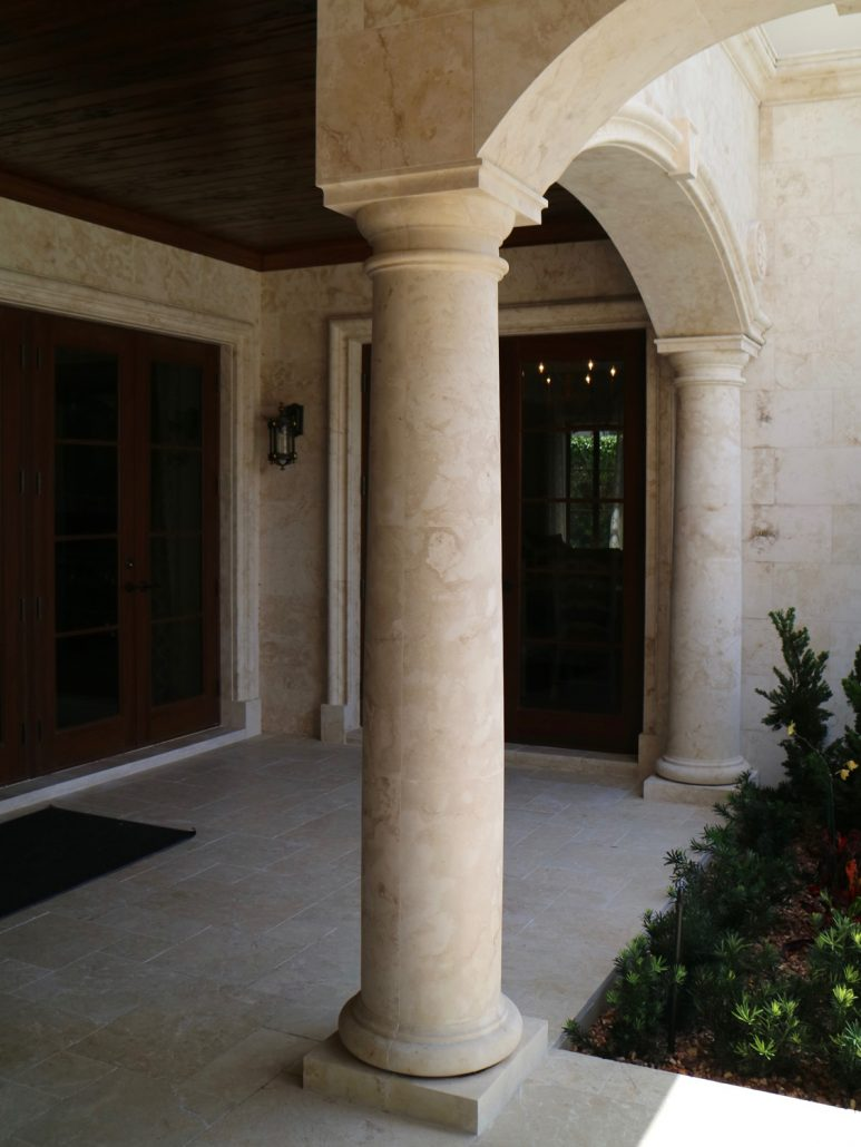 Natural Stone Columns : Custom designed marble and stone columns by bt arch