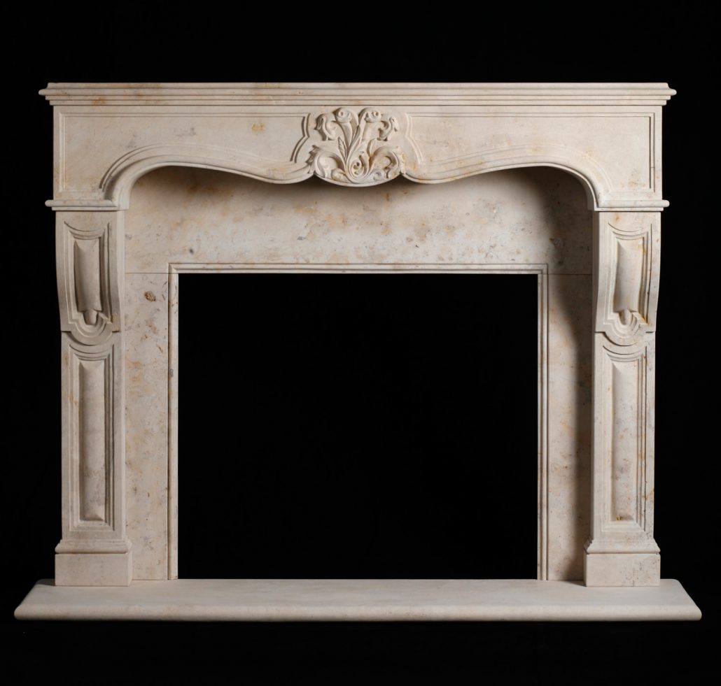 Custom French Provincial Stone Fireplace Mantels | BT ...
