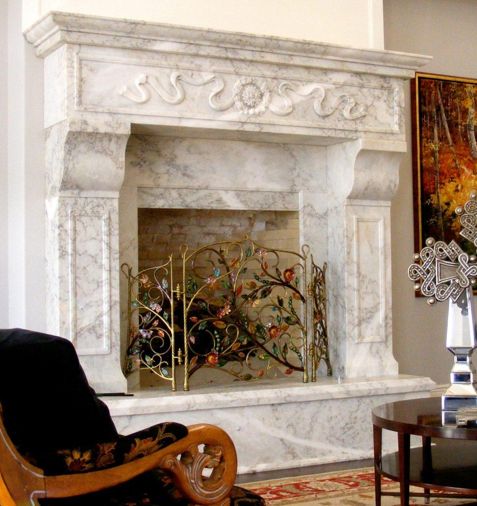 Custom Italian & Tuscan Stone Fireplace Mantels | BT ...