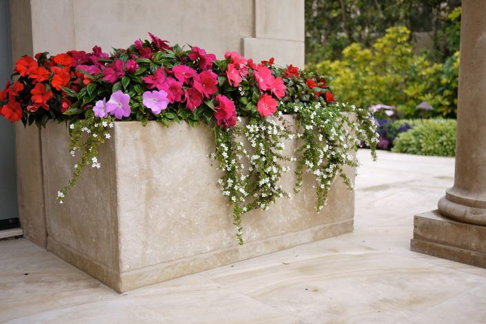 French Limestone Planters