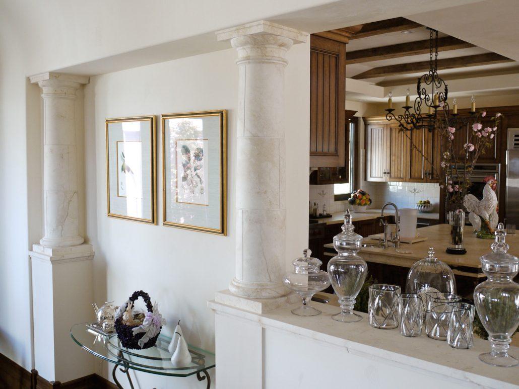 Goelman dining to kitchen columns