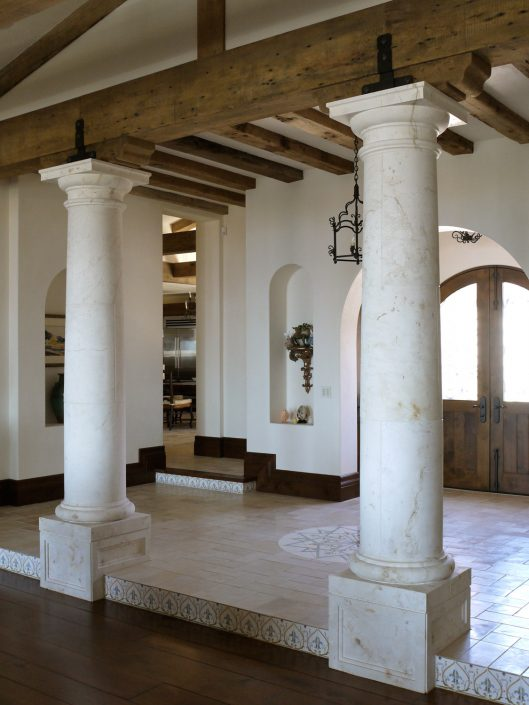 Goelman segmented tuscan columns