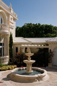 Gold Trieste fountain