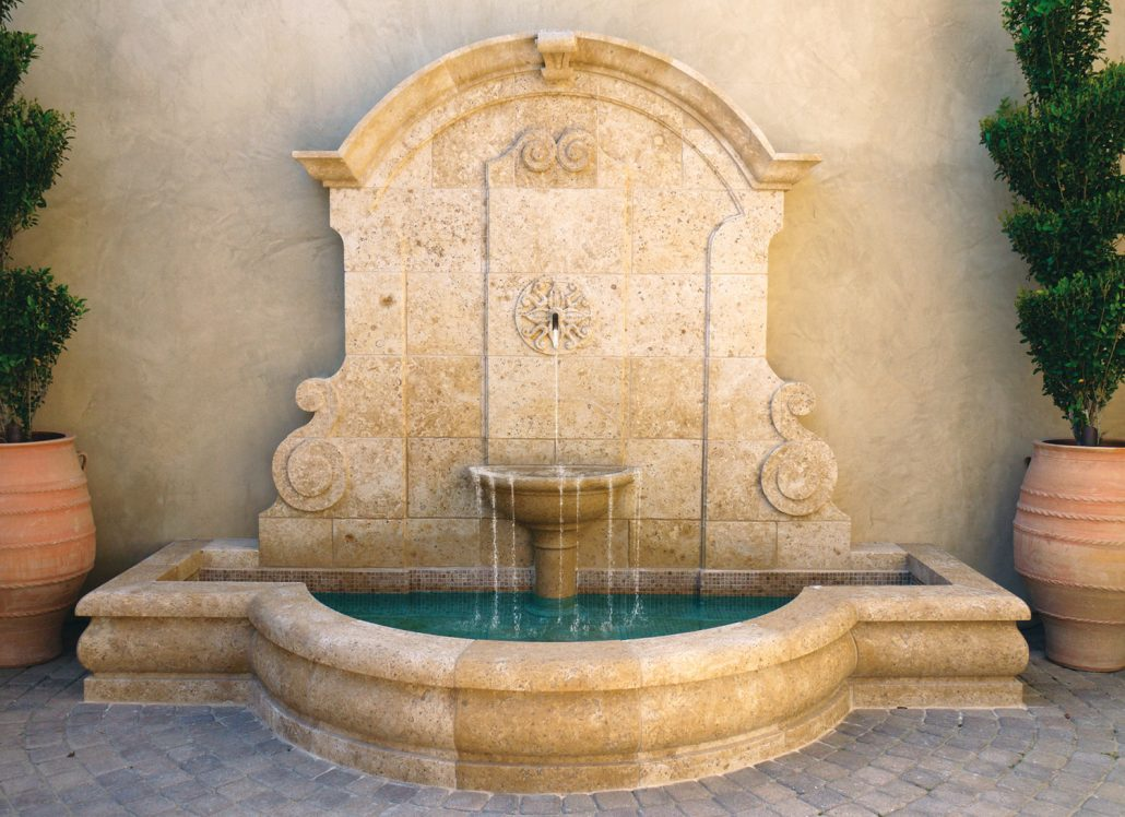 Fountains on Antique Kitchen