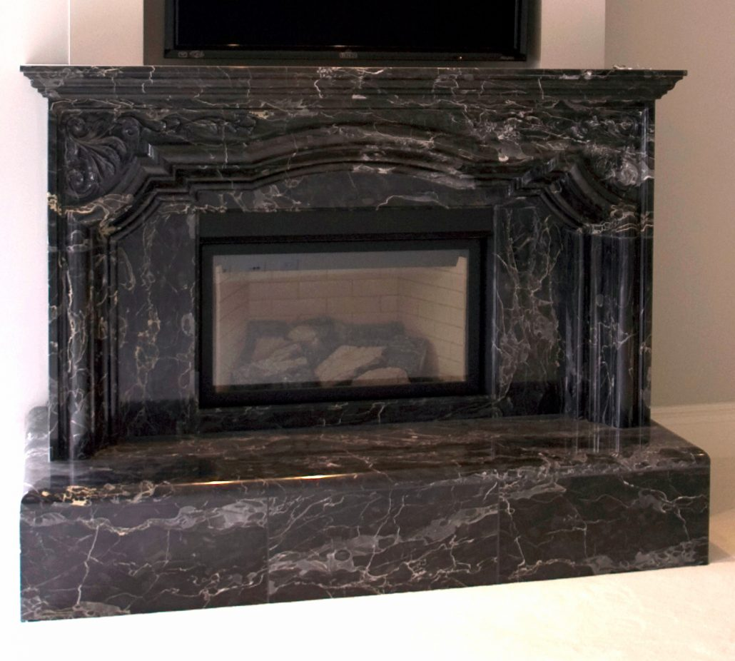 French Provincial Stone Fireplace Mantels Bt