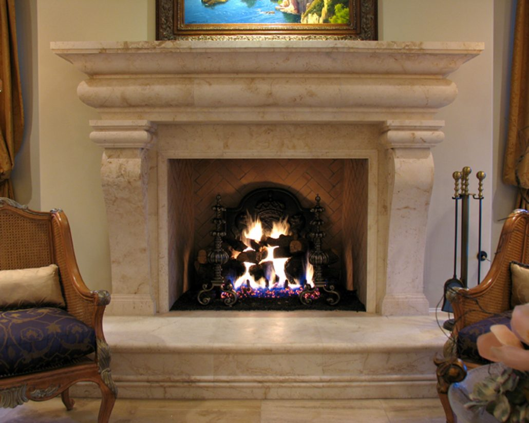 Italian tuscan stone fireplace mantels bt architectural stone - Images of stone fireplaces ...