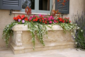 Massive carved Planter in French Limestone
