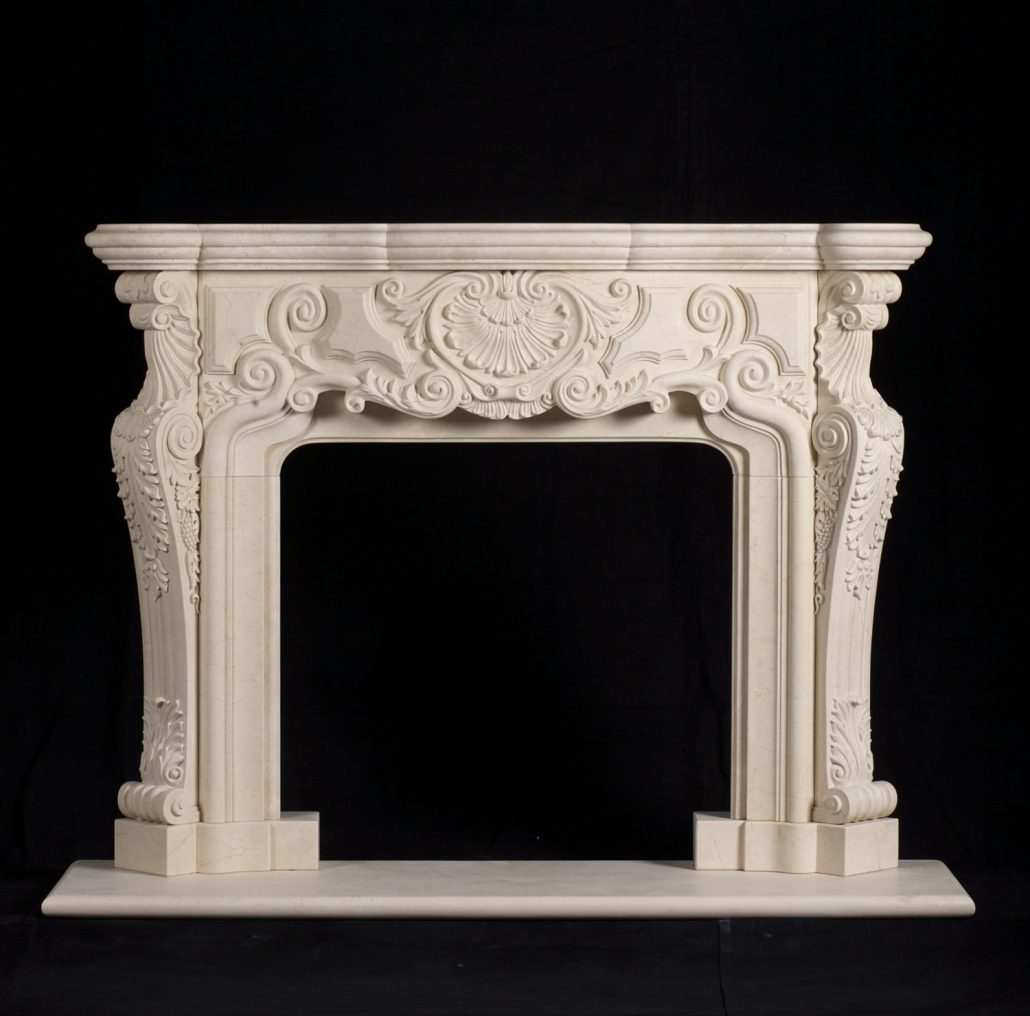 French Provincial Stone Fireplace Mantels - BT ...