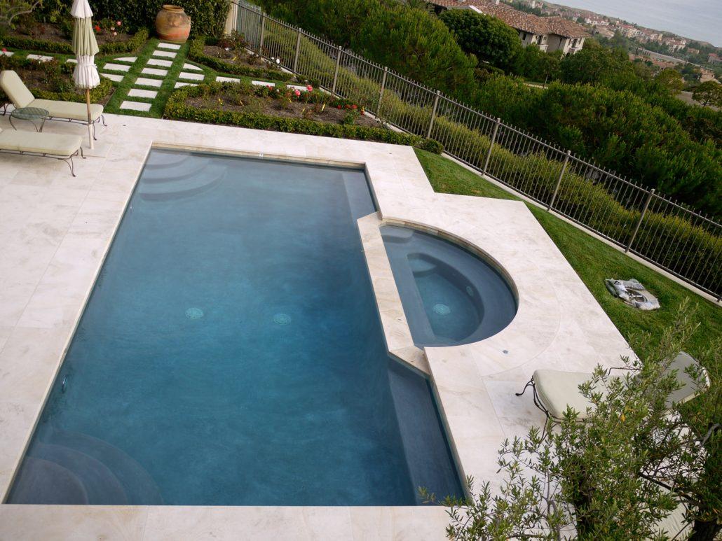 Shoreline aerial pool deck