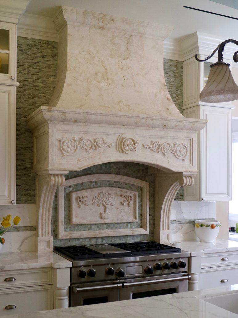 Townsend in Crema limestone