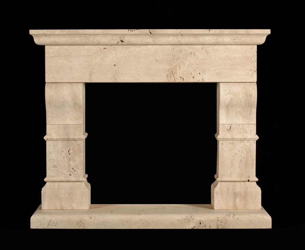 Italian Tuscan Stone Fireplace Mantels Bt Architectural Stone