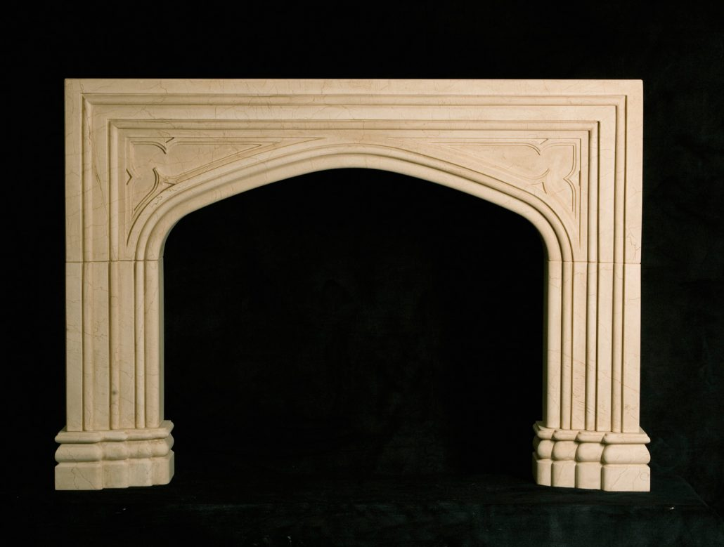 English Amp Gothic Stone Fireplace Mantels Bt