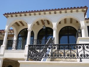 Tuscan Colonnade in Crema limestone