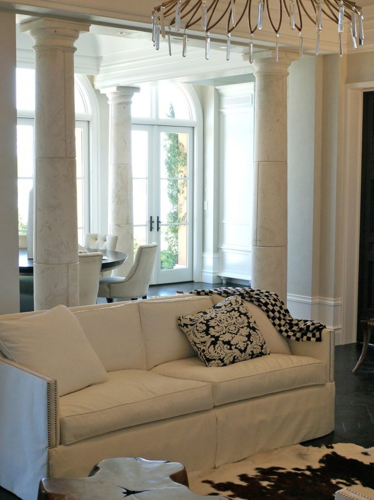 Tuscan Columns at Family Room