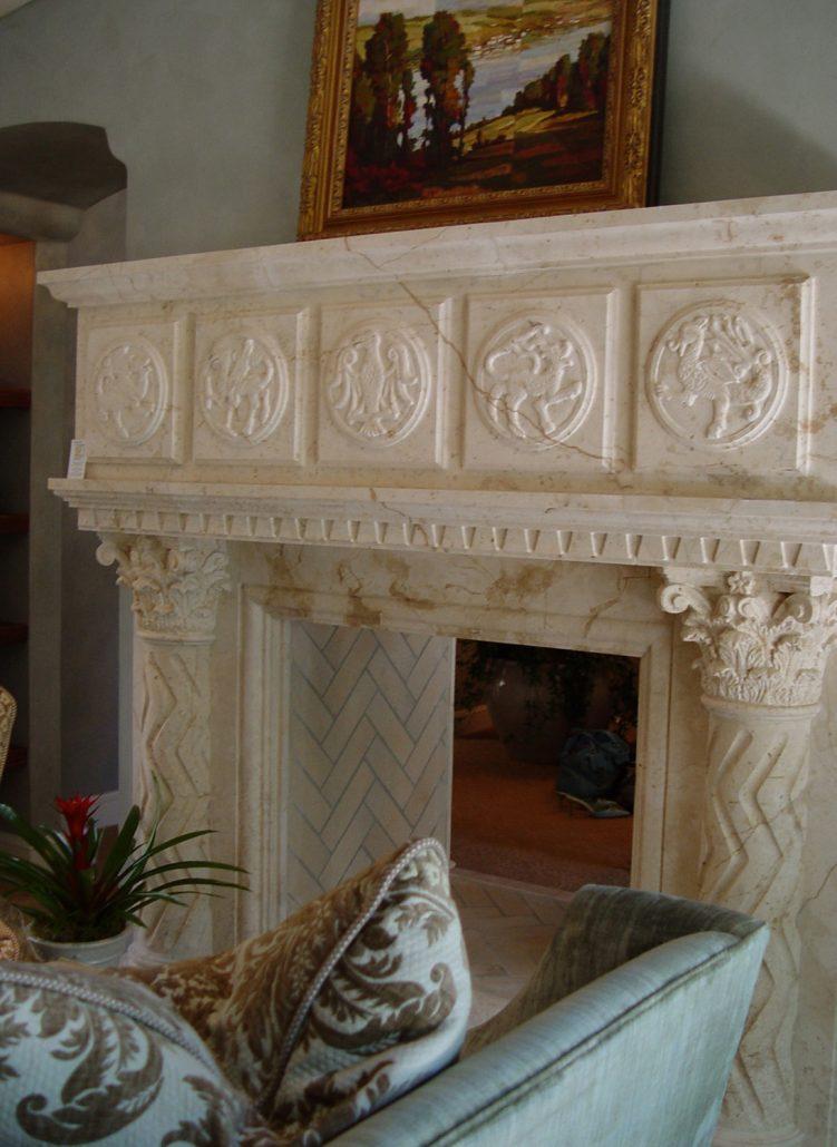 English & Gothic Stone Fireplace Mantels - BT ...