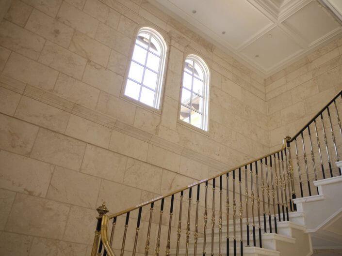Wall Paneling at Staircase