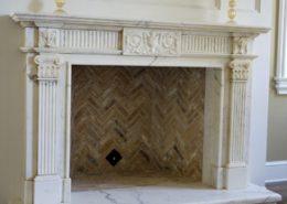English & Gothic Stone Fireplace Mantels