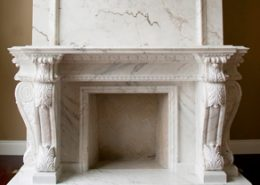 French Provincial Stone Fireplace Mantels