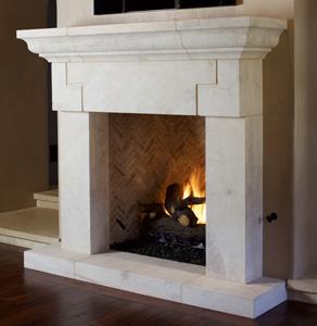 Italian & Tuscan Stone Fireplace Mantels