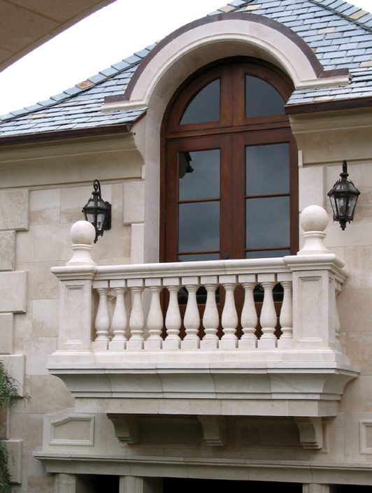 East Balcony balustrades & finials