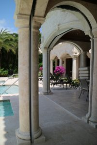 Split Tuscan column