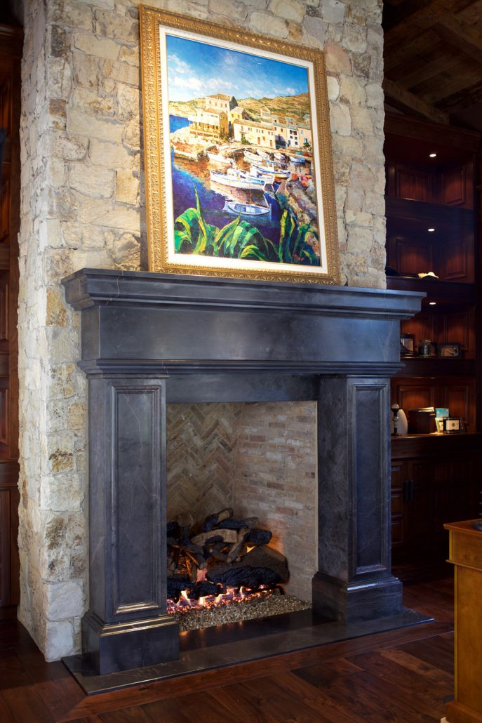 Compania in Iberia marble custom stone fireplaces