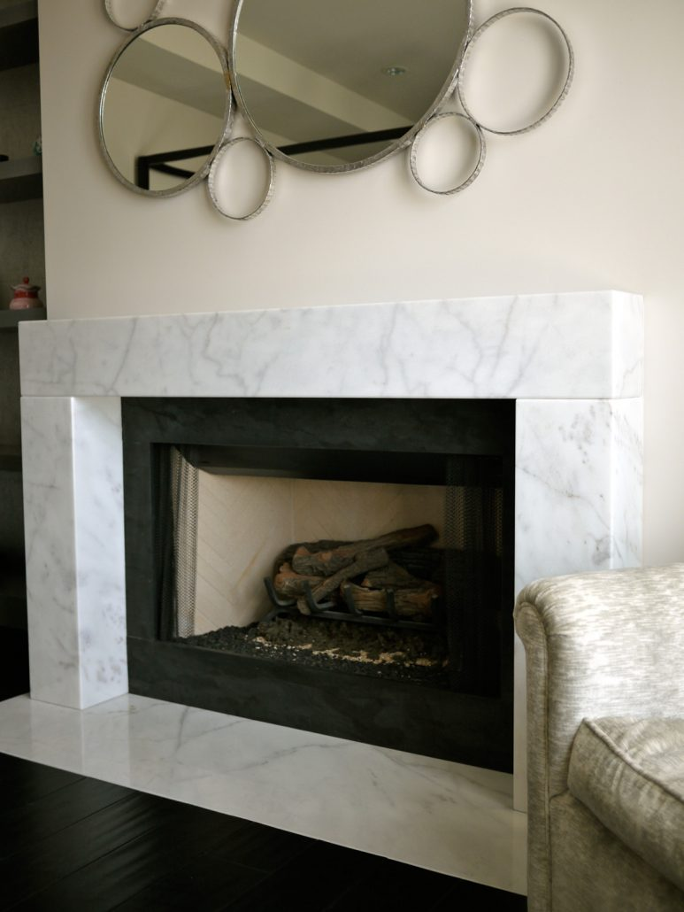 Ischia custom stone fireplace mantels