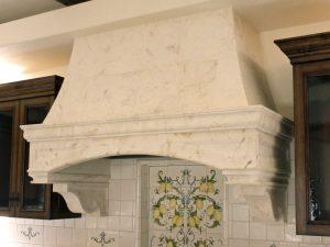 stone custom kitchen hood The Goelman