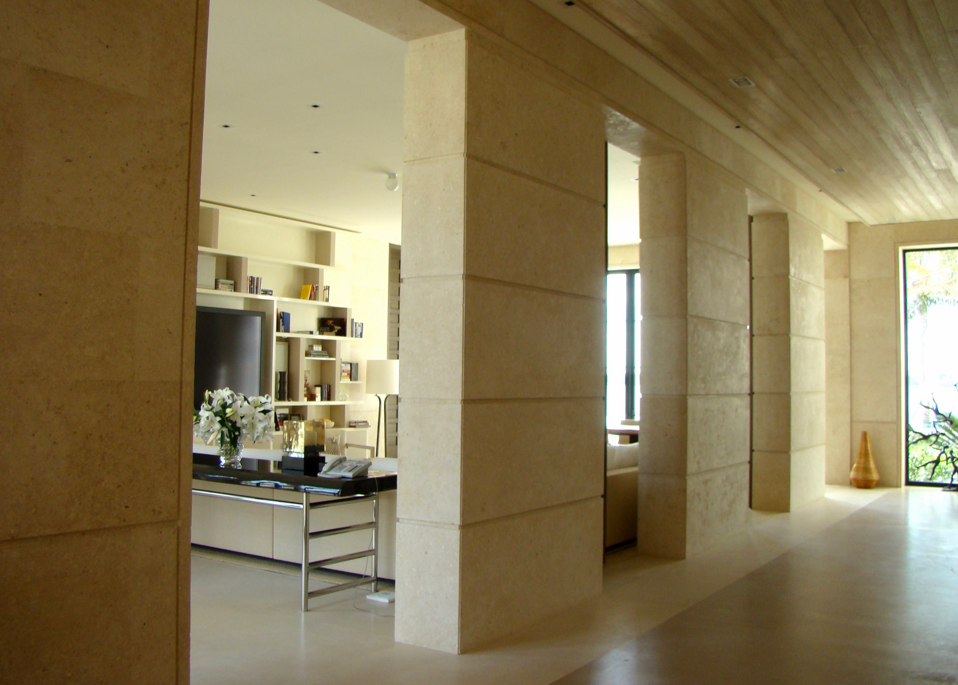 natural stone interior design wall paneling