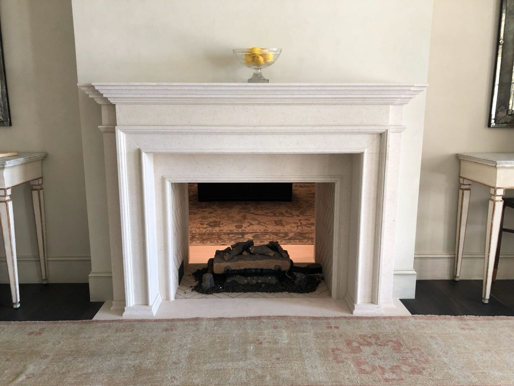 Custom Gothic And English Stone Fireplace Mantels